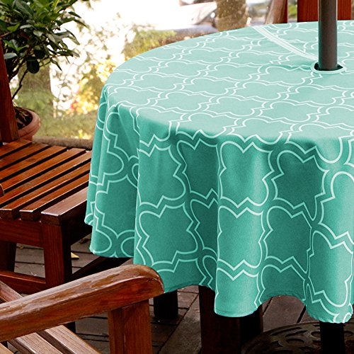 Cheap  ColorBird Elegant Moroccan Outdoor Tablecloth Waterproof Spillproof Polyester Fabric Table Cover with..