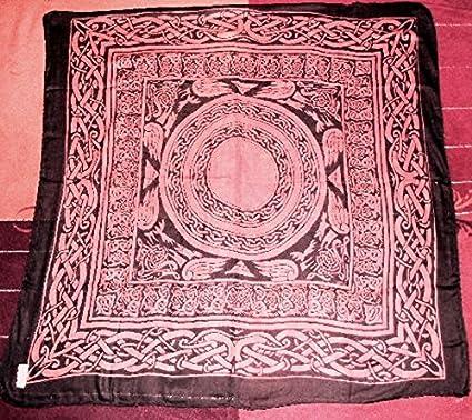 Paño de algodón con diseño celta, altar, tarot y wicca ...