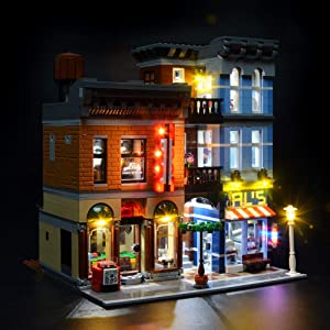 BRIKSMAX Led Lighting Kit for Detective's Office-Compatible with Lego 10246 Building Blocks Model- Not Include The Lego Set