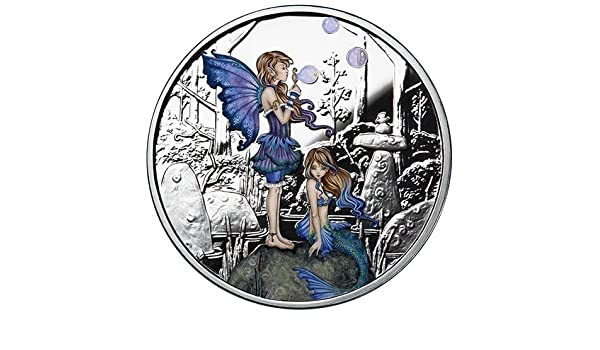 Colorized Amy Brown collection 1 oz .999 silver Proof Second Cousins fairy girl
