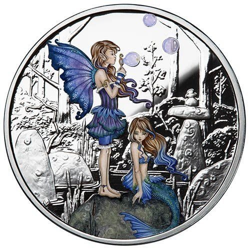 Amy Brown Collection - Second Cousins 1 oz .999 Silver Colorized Proof USA Round