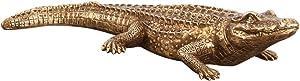 Howard Elliott 52029 Gold Sculptures Antiqued Crocodile