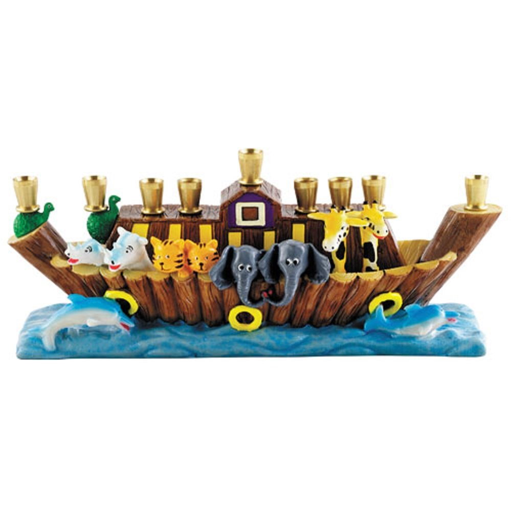 Hanukkah Children's Noah's Ark Menorah Aviv