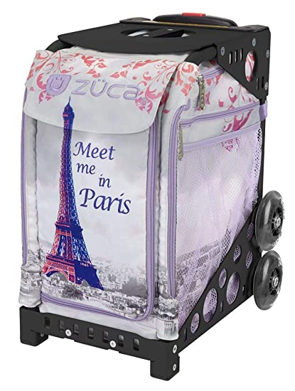 886722072d ZUCA Meet Me in Paris Sport Insert Bag and Black Frame with Flashing Wheels