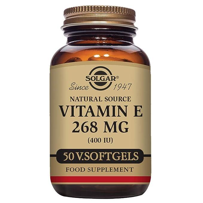 Solgar Vitamina E 268 mg (400 UI) Cápsulas vegetales blandas ...