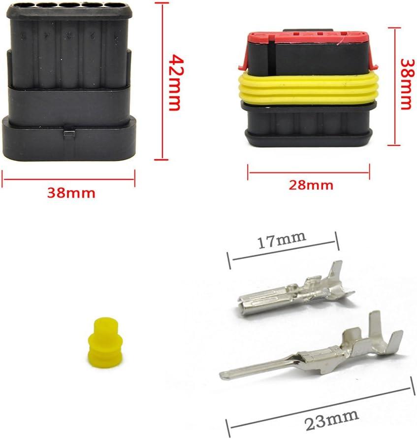 MUYI 10 Kit 4 Pin Way Waterproof Electrical Connector 1.5mm Series Terminals Water Resistend