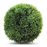Whole House Worlds The Grammercy Grass Boxwood Ball, 9 Inch Diameter, Lush Green, Bowl Filler Greenery Globe, Faux New GrowthTexture, Reproduction, Plastic, By