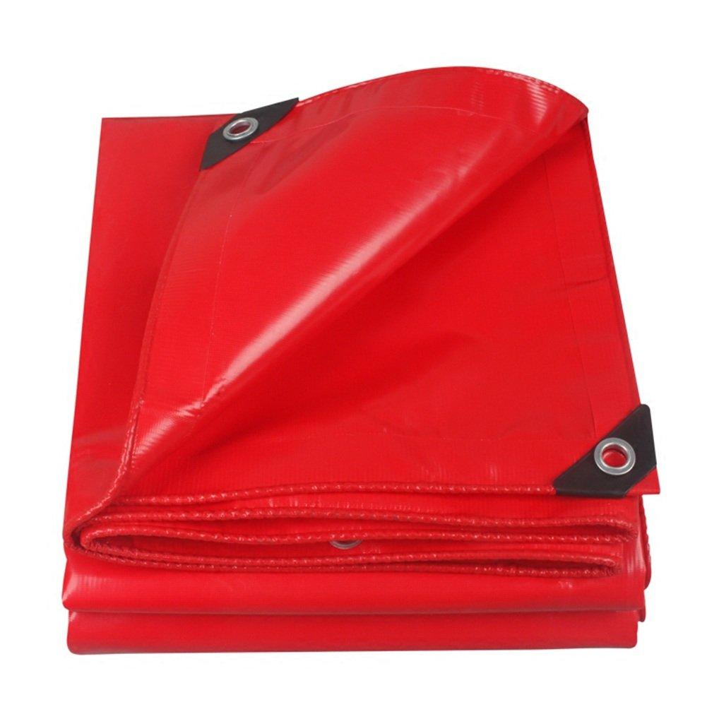 CAOYU Rote Plane, staubdichter Zeltstoff der hohen regenfesten Plane Sonnenschutz im Freien Anti-Korrosion Anti-Altern der hohen Temperatur