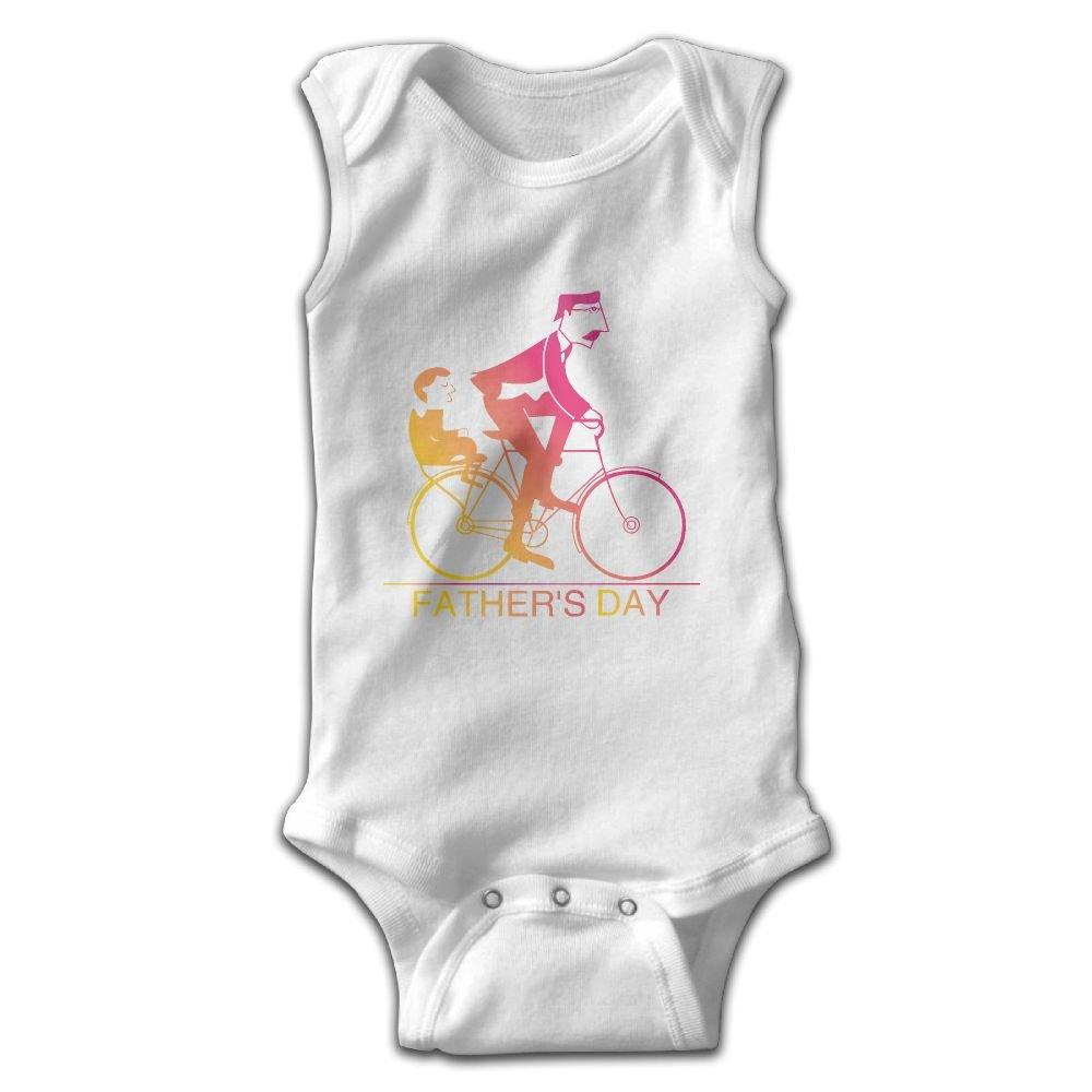 Efbj Toddler Baby Girls Rompers Sleeveless Cotton Onesie Fathers Day Print Outfit Autumn Pajamas Bodysuit