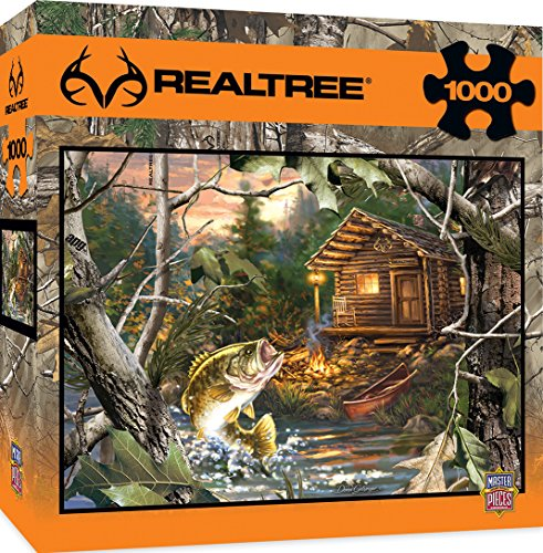 MasterPieces REALTREE The One That Got Away - Trout & Cabin Scene 1000 Piece Jigsaw Puzzle by Dona ()
