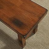 WE Furniture Solid Wood Dark Oak Dining Bench