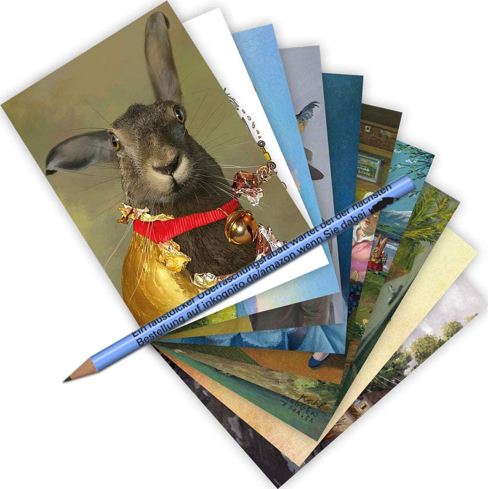 Set di 10 cartoline formato A6 /• MIX-0936 Set di cartoline pasquali di Inkognito /• Artista Inkognito INKOGNITO