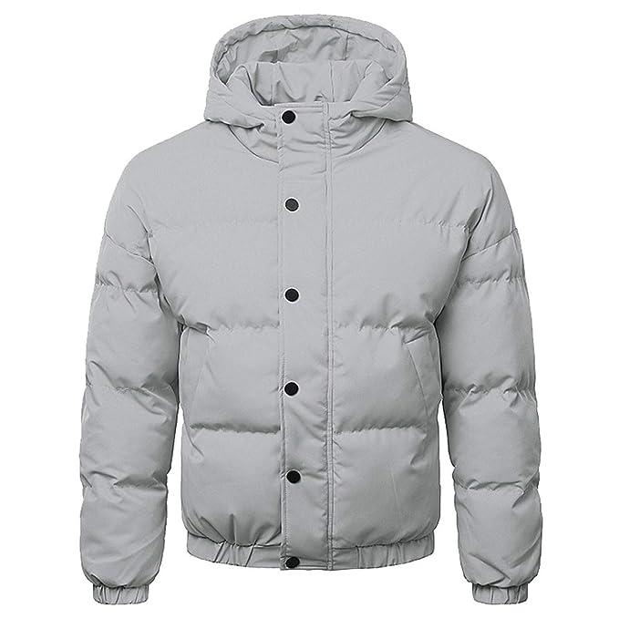 Men Boys Warm Hooded Winter Zipper Large Size Coat Outwear et Top Doudoune at Amazon Mens Clothing store: