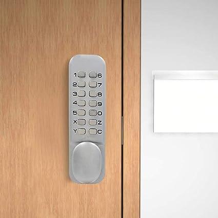 SPOTACT ML101 Cerradura De Puerta Sin Llave Con Bloqueo De Código Mecánico Bloqueo De Estilo Retro 6 Contraseña, Adecuado Para ...