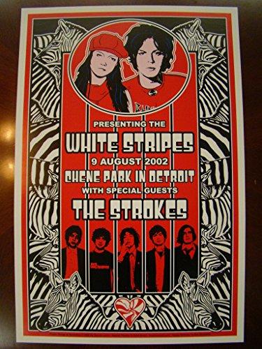 White Stripes Music Poster White Stripes Detroit 02 - Stripes 2 Music