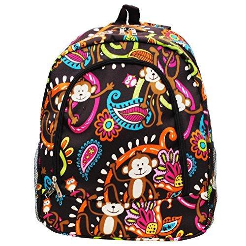 - Monkey Print NGIL Canvas School Backpack
