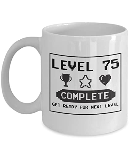 Amazon Happy 75th Birthday Mug Gaming Geek 1942