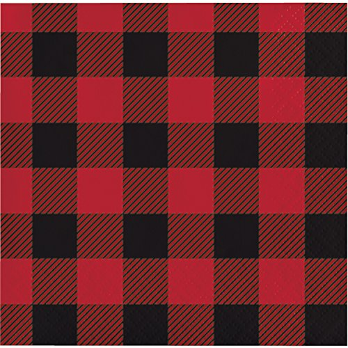 Buffalo Plaid Beverage Napkins, 48 ct -