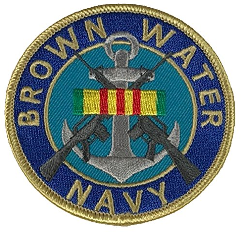 BROWN WATER NAVY W/ VIETNAM RIBBON PATCH - COLOR - Veteran Owned Business