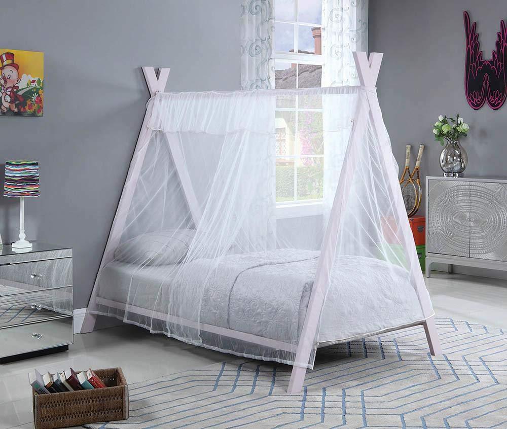 Coaster Home Furnishings Georgina Pink Twin Tent Bed
