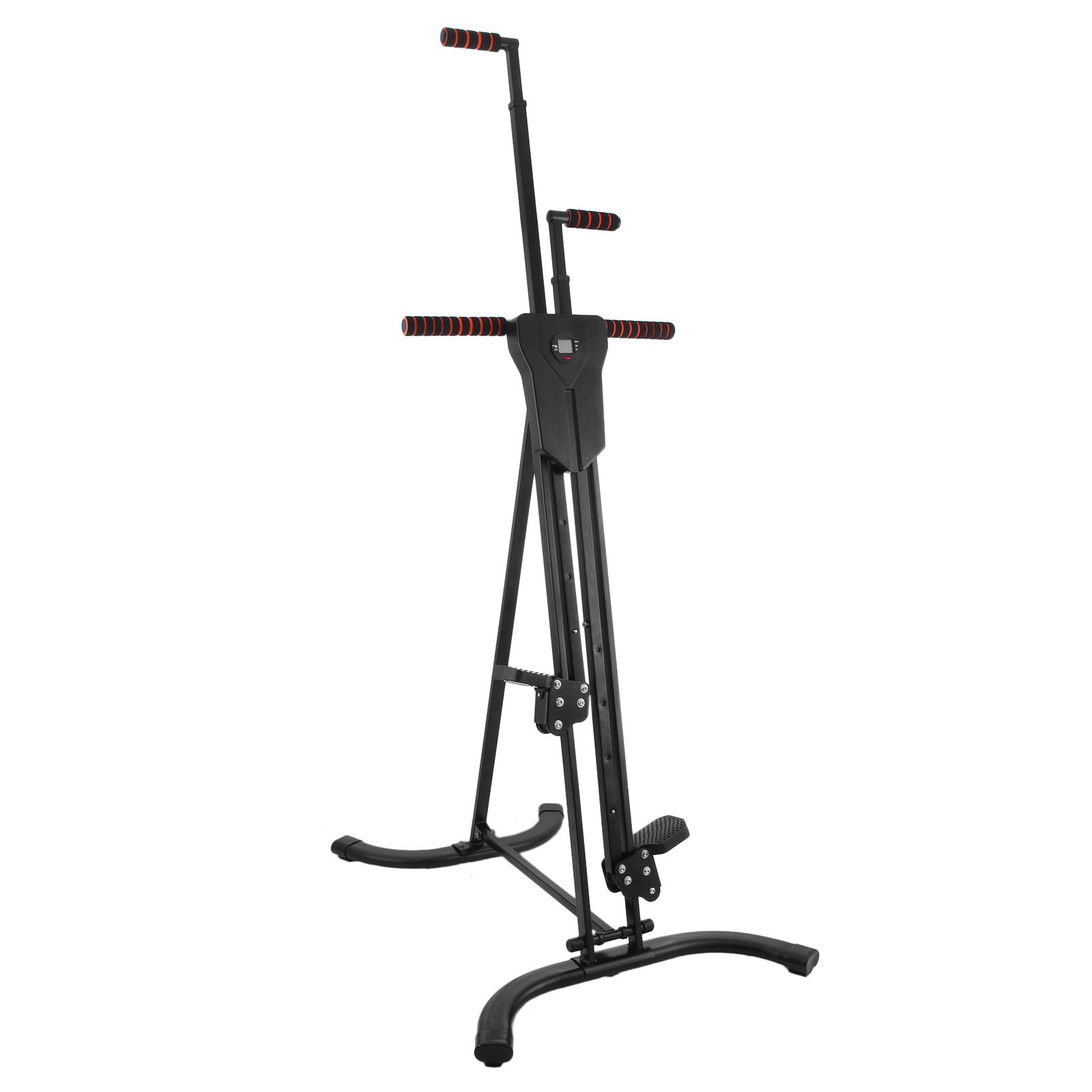 Popsport 440LBS Climber Machine Fitness Stepper Climber Exercise Equipment Vertical Climber for Home Gym Exercise Stepper Cardio Climbing System (P8008,Black) by Popsport (Image #1)