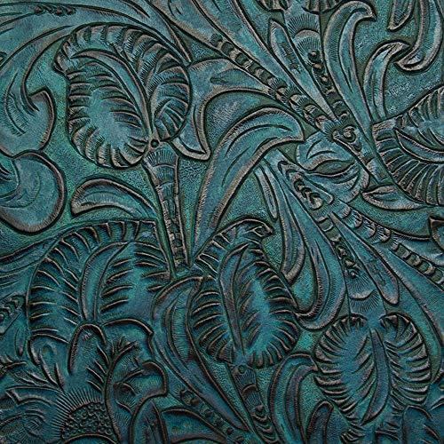 Embossed Metallic Leather (Springfield Leather Company Premium Embossed Paradise Tooled Pre-Cut (Aquamarine, 12x12))