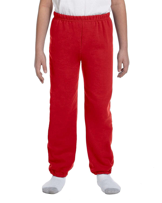 Gildan Boys 7.75 oz G182B Heavy Blend? 50//50 Sweatpants -RED -M-12PK