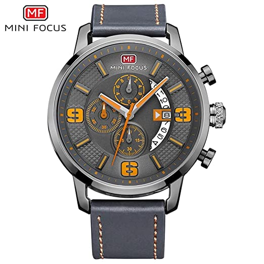 HWCOO Hermoso Relojes de Pulsera AliExpress Mini Focus/Reloj de Cuarzo de los Hombres de Moda Pantalla de Calendario de dial multifunción (Color : 3): ...
