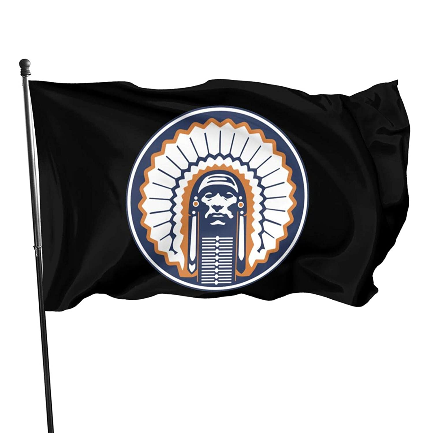 Illinois Fighting Illini Fans 3 X 5 Ft Garden Flags Fashion Banners Indoor And Outdoor For Party Decorations,Parades,Election Day Celebration Event