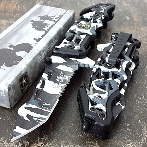 US-ARMY-KNIFE-Assisted-Opening-Knives-WINTER-SNOW-CAMO-Tactical-Tanto-Knife