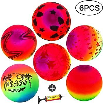 Twister.CK Rainbow Playground Ball, Volley de Pelotas de Playa ...