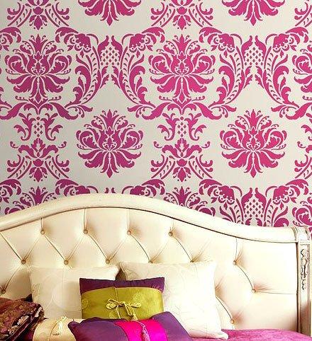 Damask Stencil Gabrielle - Reusable stencils for walls and fabrics - DIY wall decor