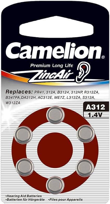Camelion 15006312 Zink Luft Knopfzellen A312 Zl 312 Amazon De Elektronik
