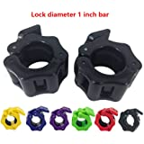 Greententljs 1 Inch Barbell Clamps - Quick Release Pair of Locking 1'' Diameter Standard Bar Weight Plates Collar Clips for W