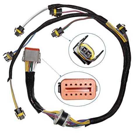 Greatwayer Fuel Injector Wiring Harness embly 222-5917 for CATERPILLAR on 7.3 intake harness, 7.3 engine harness, 7.3 alternator harness, 6.0 powerstroke injector wiring harness, 7.3 wire harness,