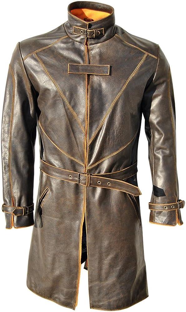 Xs-5xl Classyak WD Trench Original Distressed Leather Coat