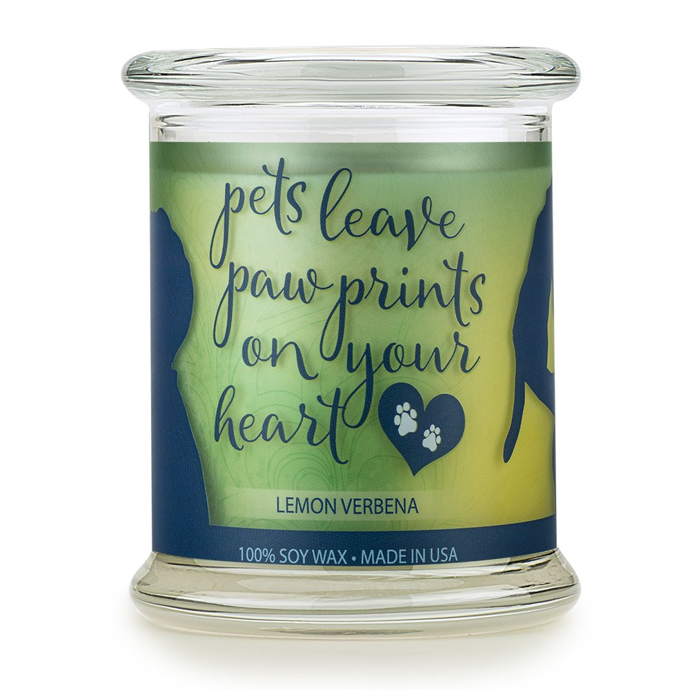 One Fur All Pet House Sentiments Candle Natural Soy Wax, Pet Lover Gifts, Non-Toxic, Allergen-Free, Eco-Friendly Candle, Pet Odor Neutralizer – Pet House Sentiments Candle, Lemon Verbena