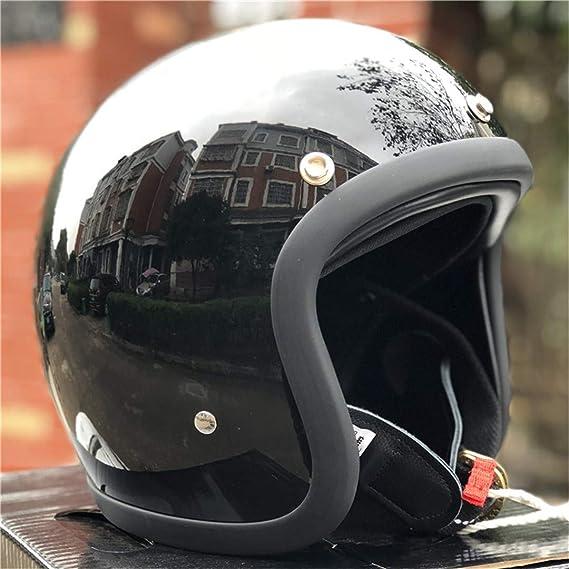 Casco de Motocicleta de bajo Peso para Hombre de bajo Perfil de Casco de Motocicleta japonés de bajo Perfil de Fibra de Vidrio: Amazon.es: Deportes y aire libre