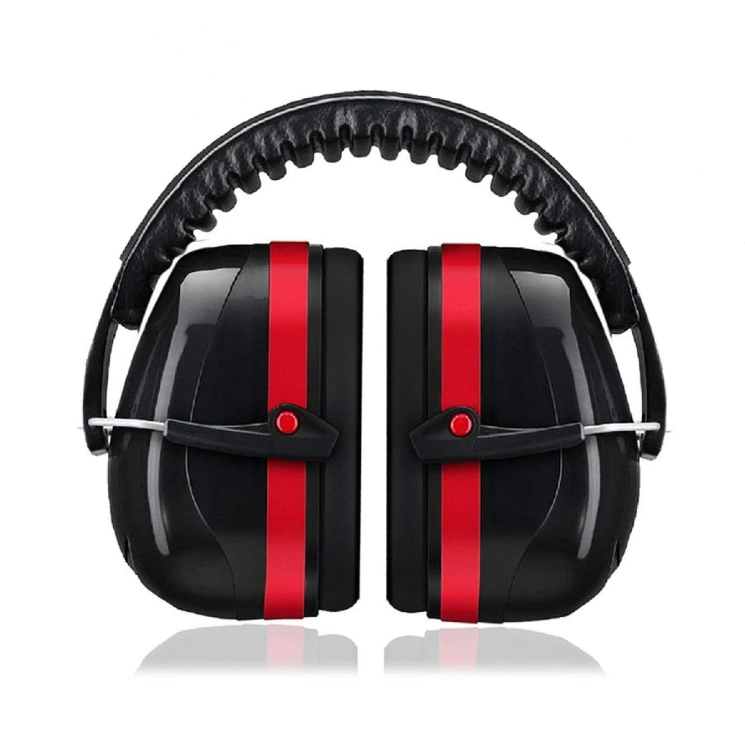 Noise Reduction Safety Ear Muffs,35dB Highest NRR Safety Ear Muffs Shooters Hearing Protection Ear Muffs,Adjustable Shooting Ear Muffs,Professional Shooting Hunting Ear Muffs (Red Black)