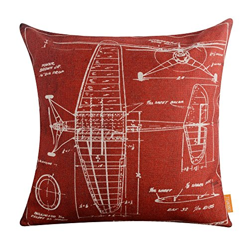 LINKWELL Airplane Drawings Cushion CC1149 product image