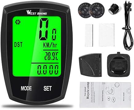 FYLY-Cuentakilómetros Inalámbrico para Bicicleta, Velocímetro y ...