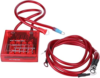 D1 SPEC BLACK //RED Ground Wires Earthing /& Voltage Stabilizer LED DISPLAY