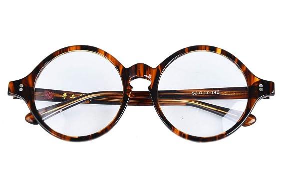 7fc83c88b1d2b Amazon.com  Agstum Handmade Vintage Round Optical Eyeglass Frame ...