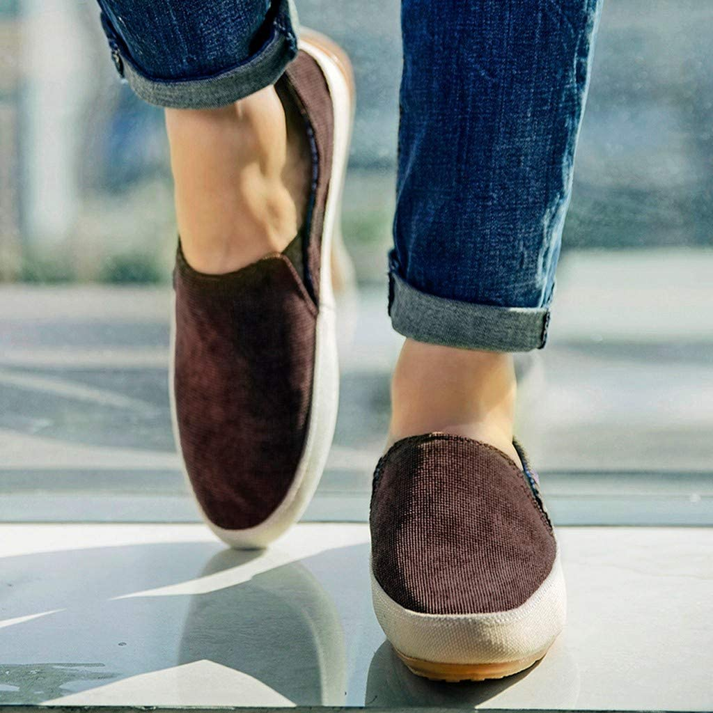 CATHYOYO Muffin Chaussures Mode Automne Hiver De Mode Sport Toile Peu Profondes Espadrilles Plates en Chambray avec Petit Logo Homme