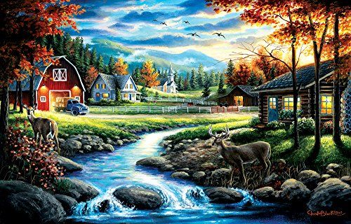 SunsOut Country Sunday 1000 Piece Jigsaw Puzzle