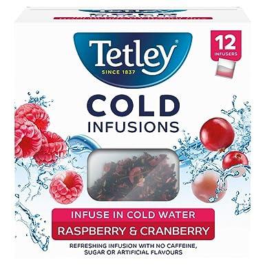 Tetley Cold Infusions Frambuesa y Arándano 12 Bolsas: Amazon ...