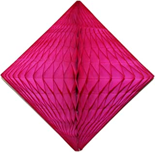 product image for 3-Pack 12 Inch Cerise Honeycomb Diamond Decoration