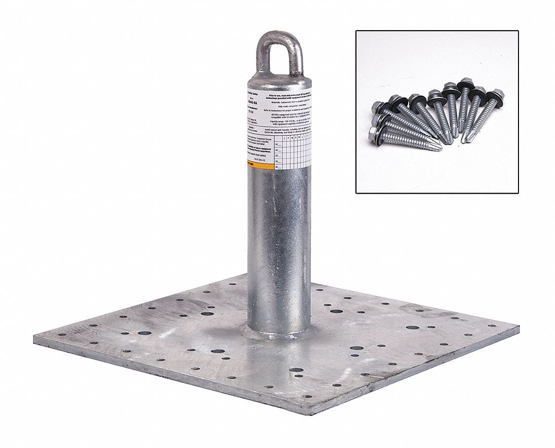 Roof Anchor,420 lb,Metal