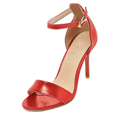 Artfaerie Damen Riemchen High Heels Sandalen mit Schnalle und Stiletto Ankle Strap Pumps Open Toe Elegante Schuhe