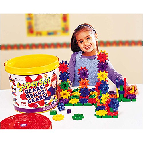 LEARNING RESOURCES GEARS SUPER SET 150 PIECES (Set of 3)